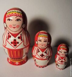"""Buy Matryoshka from the series""""Friends""""(Mordovian) - white, matryoshka, matryoshka author's, matryoshka painted"""