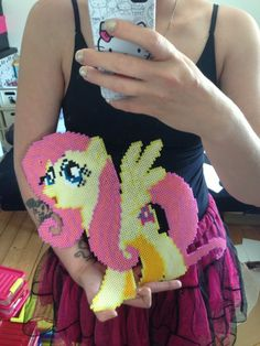 Fluttershy perler beads by Tjalle
