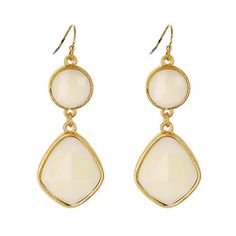 Geometric Stone Drop Earrings [ECE12317MGIV] : Wholesale24x7.com - Fashion Scarves and Accessories Wholesale, One Stop Wholesale Shopping for Scarves, Jewelry and Fashion Accessories!