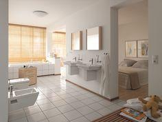 Duravit - Bathroom design series: 2nd floor - washbasins, toilets, bidets, tubs, showers and bath furniture from Duravit.