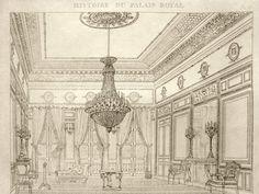 LE PETIT SALON DE L'APPARTEMENT DE L'AILE DE MONTPENSIER After Jules-Frédéric Bouchet or Pierre Fontaine, 1830-1834 Engraving on white wove paper
