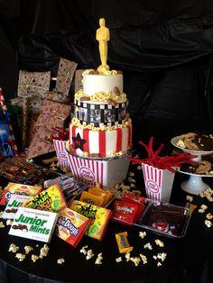 Hollywood movie night cake