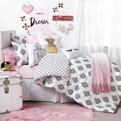 Teen Bedroom Ideas - Dormify Hello Gorgeous Room // shop dormify.com to get this look.