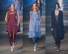 """VESTIDO + PANTALÓN = Sorprendente Combinación http://www.glam.com.es/2012/10/11/vestido-pantalon-sorprendente-combinacion/ Tras la atemporal tendencia y combinación """"vestido + legging"""", y la tímida aparición de la ingeniosa fórmula """"falda + pantalón"""" (skirts-over-dresses) durante el verano que acaba de finalizar; la Primavera-Verano 2013, va un paso más allá y apuesta de forma rotunda por el sorprendente mix """"vestido + pantalón"""" (dresses-over-pants)."""