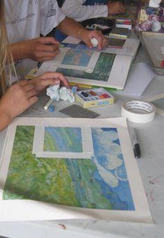 Mini Monet Impressionist Art:  k6art - fabulous idea