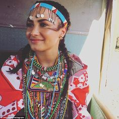 Content: Demi Lovato, 24, took to Instagram to share a breathtaking photo of herself wearing full African Maasai garb and bead work