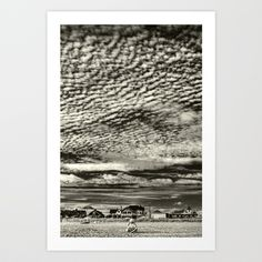 Sheltering Mackerel Sky Art Print by Geoffrey Agrons - $25.00