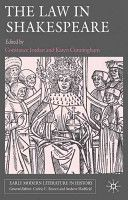 The law in Shakespeare / edited by Constance Jordan and Karen Cunningham