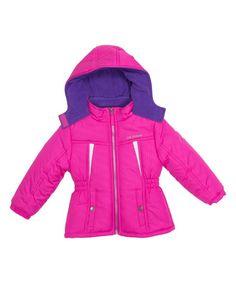 Pink Stamp Active Puffer Jacket -  Infant Toddler & Girls