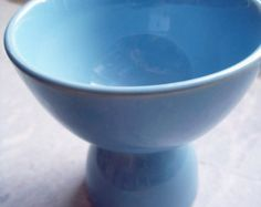 Vintage LuRay Pastels Windsor Blue Double Egg Cup