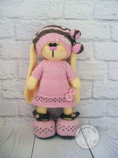 "Diy Crafts - Ravelry: ""chocolate marshmallows"" pattern by Svetlana Malyarik Crochet Rabbit, Crochet Teddy, Easter Crochet, Crochet Bunny, Knitted Cat, Knitted Animals, Knitted Dolls, Crochet Dolls, Crochet Animal Patterns"
