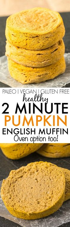 Healthy TWO minute Pumpkin English Muffin- Filling, dense and LOADED with…