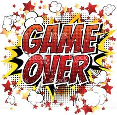 Game over - Comic book, cartoon expression. royalty-free stock vector art