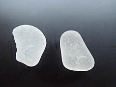 Two genuine pieces of frosted sea glass from the waters off Oahu, Hawaii from KakersBeach on Zibbet