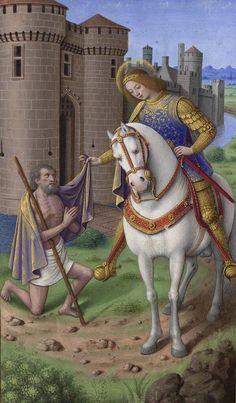 Grandes Heures d'Anne de Bretagne (Jean Bourdichon, début du XVIe) SANTA JUANA DE ARCO