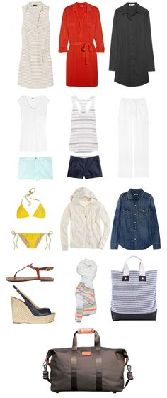 Damsel in dior page 2 clothes n junk travel packing outfits, Travel Packing Outfits, Packing Clothes, Travel Outfit Summer, Travel Wardrobe, Casual Summer Outfits, Capsule Wardrobe, Packing Lists, Vacation Wardrobe, Wardrobe Staples