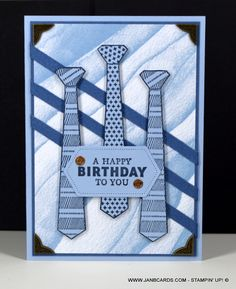 Handsomely Suited Birthday Card - JanB Cards