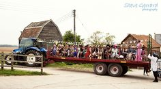 Yay! Huntstile tractor ride! Pic by Steve Gerrard