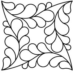 This stencil is easy to sew! It's continuous stitching – pick a place to start – a corner's a good choice, sew your way around it and prepare to be impressed! Quilting Stitch Patterns, Machine Quilting Patterns, Quilt Stitching, Quilt Patterns Free, Quilting Designs, Embroidery Patterns, Hand Embroidery, Quilting Stencils, Quilting Templates