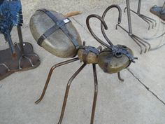 Ant made of steel and rocks