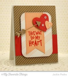 Go with It stamp set and Die-namics, Diagonal Stripes Background, Friends Like Us, Blueprints 21 Die-namics, Heart STAX Die-namics, Stitched Fishtail Flag STAX Die-namics, Stitched Rounded Rectangle STAX Die-namics, Giraffe Stencil - Jackie Pedro #mftstamps