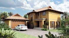 Bali Style 203m² Southern Entrance House Plan
