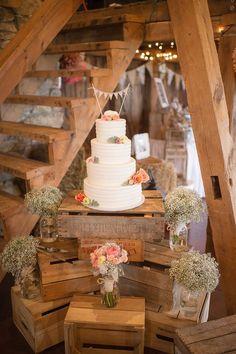 rustic wedding cake decoration ideas