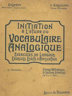 Galandy, Balaignac - Initiation à l'étude du vocabulaire analogique (de 5 à 7 ans)