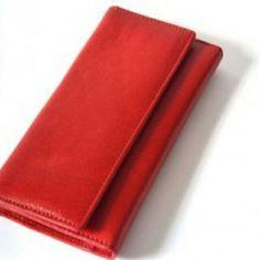 RED GENUINE WOMEN WALLET , bahan KULIT SAPI ASLI 100%  uk.11x21cm @350K