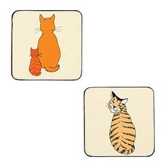 Cats In Waiting Coasters Pk Four - placemats & coasters