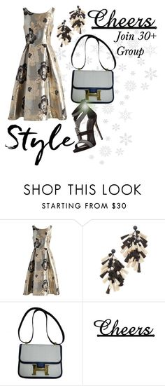 """""""Happy New Year! (See Description)"""" by flippintickledinc ❤ liked on Polyvore featuring Chicwish, Tory Burch, Hermès and Giuseppe Zanotti"""