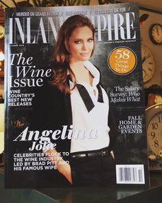 Guess who's in the October issue of Inland Empire magazine? WE ARE! #inlandempire #magazine #angelinajolie #celebrity #cover #wine #fall #home #garden #holidays #decorating #clocks #watches #howardmiller #blackforest #rhythm #grandfatherclock #horology #interior #accents #october #style #decor #issue