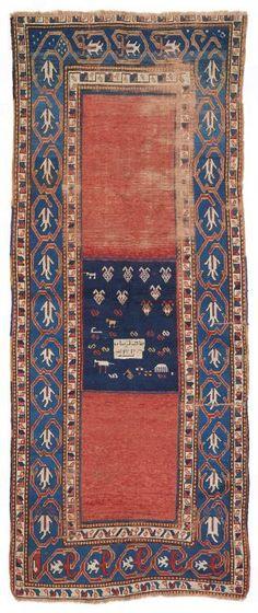 VAN-HAM Kunstauktionen  Caucasus.  Dat. 1301 Hegira (1883 AD). 274 x 115cm.