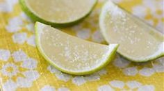 A fun take on the classic drink. Margarita jello served in a hollowed out lime. Serve with salt and get ready to have a good time.