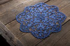 Navy blue doily lace by SamoPL on Etsy