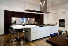 Diseño de cocina elegante cromada