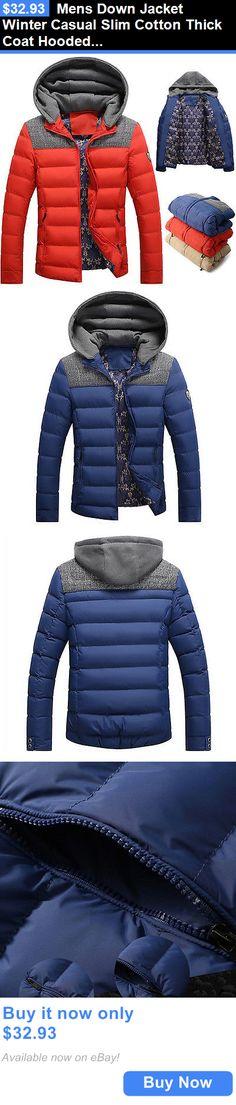 529fddb893274 Men Coats And Jackets  Mens Down Jacket Winter Casual Slim Cotton Thick Coat  Hooded Parka