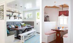 New kitchen small light breakfast nooks Ideas Kitchen Banquette, Kitchen Benches, Kitchen Nook, Kitchen Redo, New Kitchen, Kitchen Small, Orange Kitchen, Kitchen Colour Schemes, Kitchen Colors