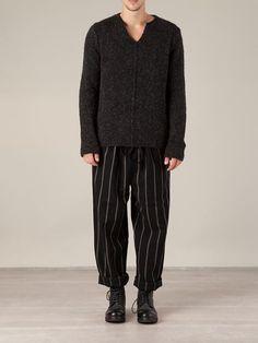 Men - Uma Wang Striped Drawstring Fastening Trousers - L'Eclaireur Shop