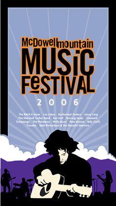McDowell Mountain Music #Festival #Poster #Illustration
