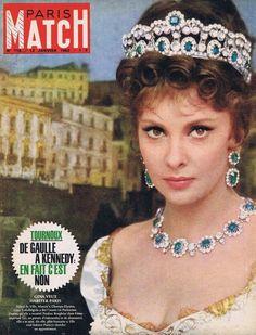 Couverture DE Magazine Paris Match N° 718 123 01 63 Gina Lollobrigida | eBay