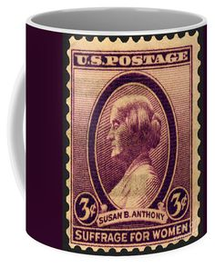 Susan B Anthony Commemorative Postage Stamp Coffee Mug For Sale By Phil Cardamone