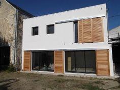 Agrandissement contemporain d'une maison #agrandissement #extension #travaux http://www.habitatpresto.com/chantier/491-chantier-mois-agrandissement-contemporain