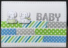 LindaCrea: Washi Tape Madness #24 - Baby Olifantjes