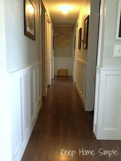 Keep Home Simple: Our Split Level Fixer Upper. Great way to add depth and appeal to our lackluster hallway.