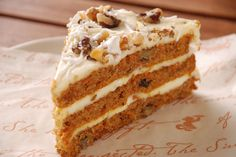 Starbucks Carrot Cake - Make your favorite Restaurant & Starbucks recipes at home with Replica Recipes!
