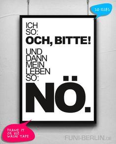 """NÖ."" | typo poster | size L von FUNI BERLIN auf DaWanda.com"