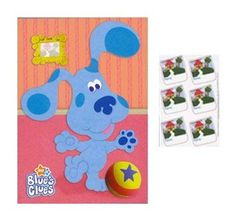 Blue's Clues Party Game Poster Blue's Clues Party Game With 12 Peel-Off Stickers.Sticker Closest to Adding The Picture To The Frame in The Right Spot Wins! Chelsea Baby, Black Friday Toy Deals, Clue Party, 4th Birthday, Birthday Ideas, Blues Clues, Pirate Party, Craft Party, Party Games