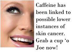Skin tip from Dr. Rueckl, Lakes Dermatology #caffeine #skincancer #coffee