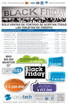 lista-black-friday-2012 by Specialtech Octavio Gonzalez via Slideshare